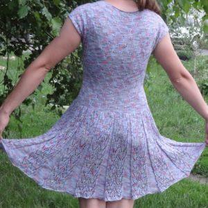 "платье узор ""бабочка"" фото со спины"