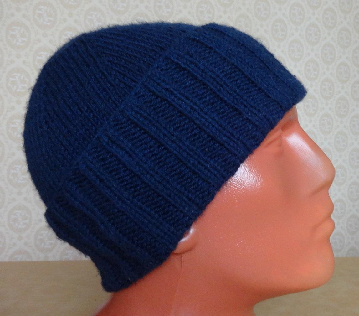 мужская шапка спицами подробное описание все о вязании