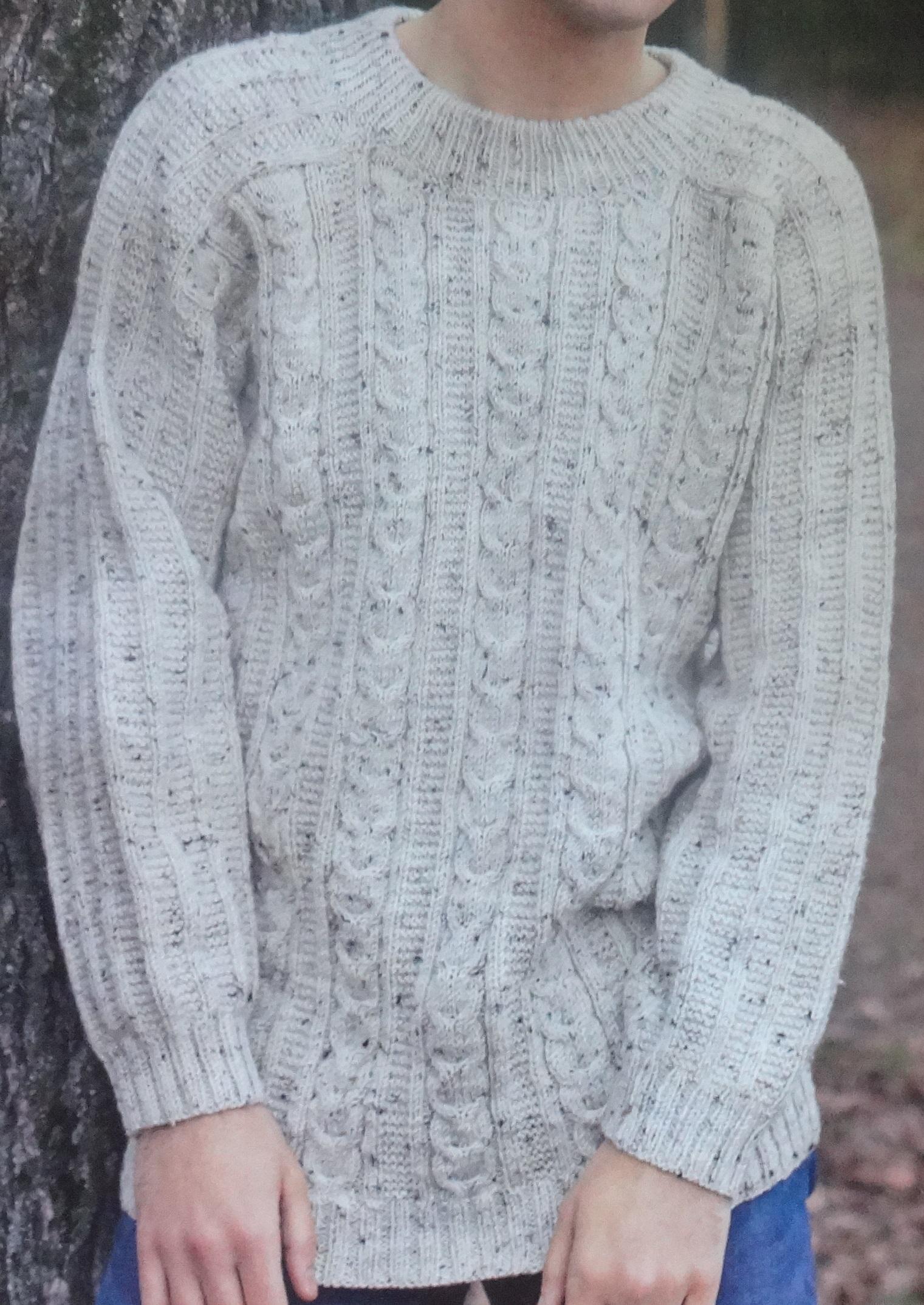 свитер мужской связанный спицами