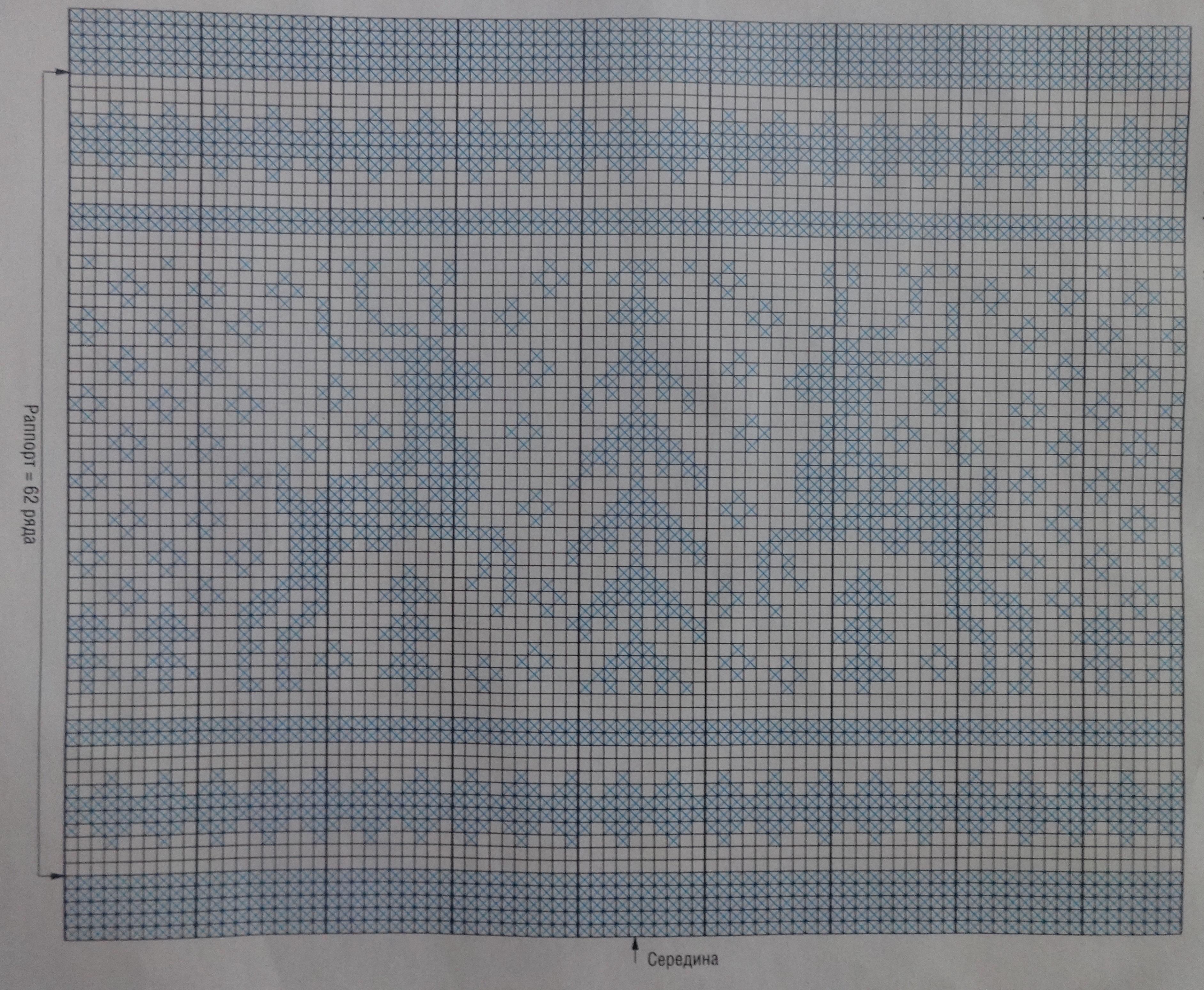 схема с оленем жаккардовый узор