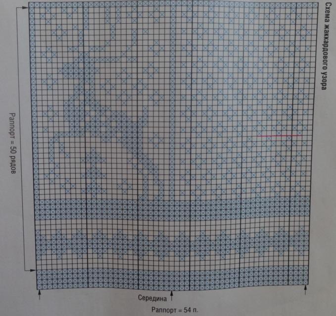 красный олень схема для варежек