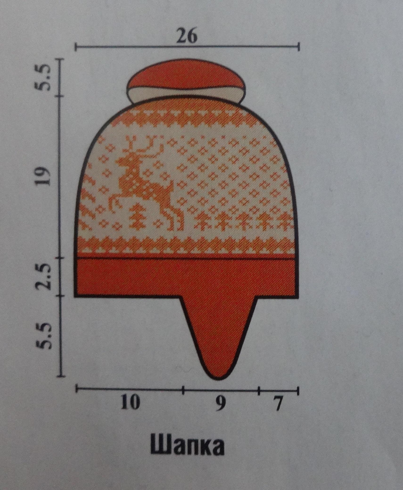 олени шапка выкройка
