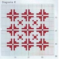 плед спицами схема квадрата Е
