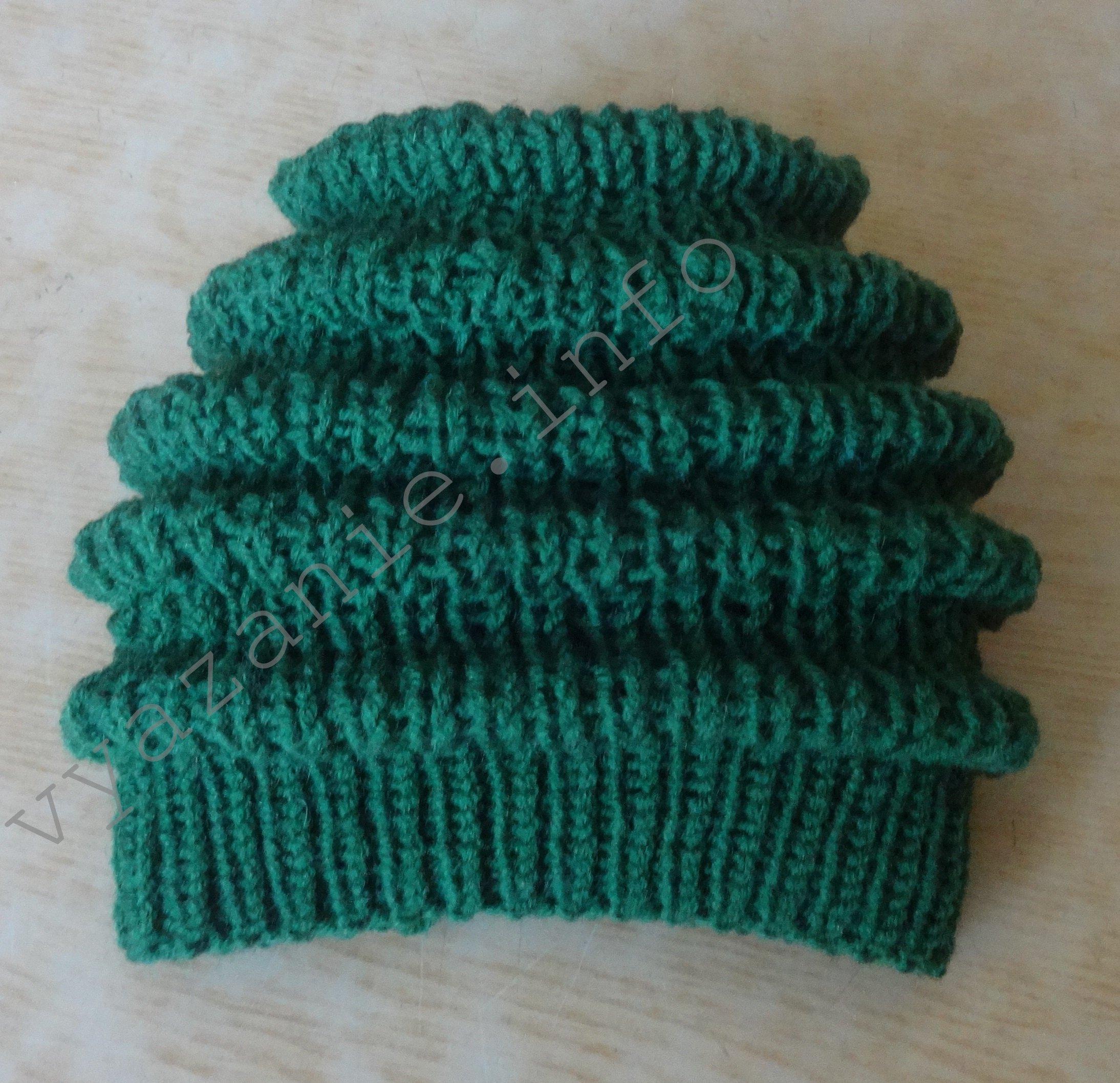 женская шапка волнами