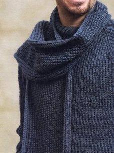 так выглядит мужской шарф