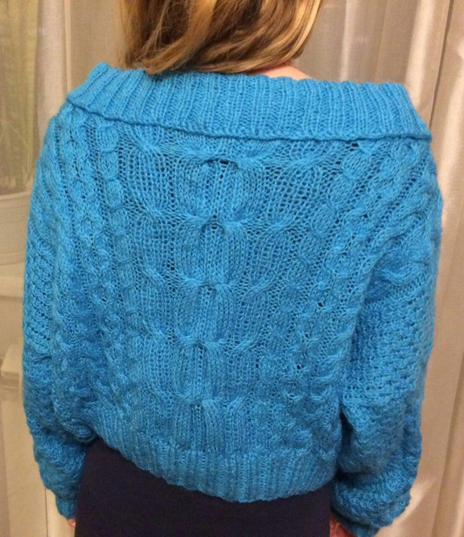 свитер рубан вязание спицами
