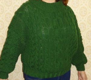 как связать свитер рубан (RUBAN) спицами