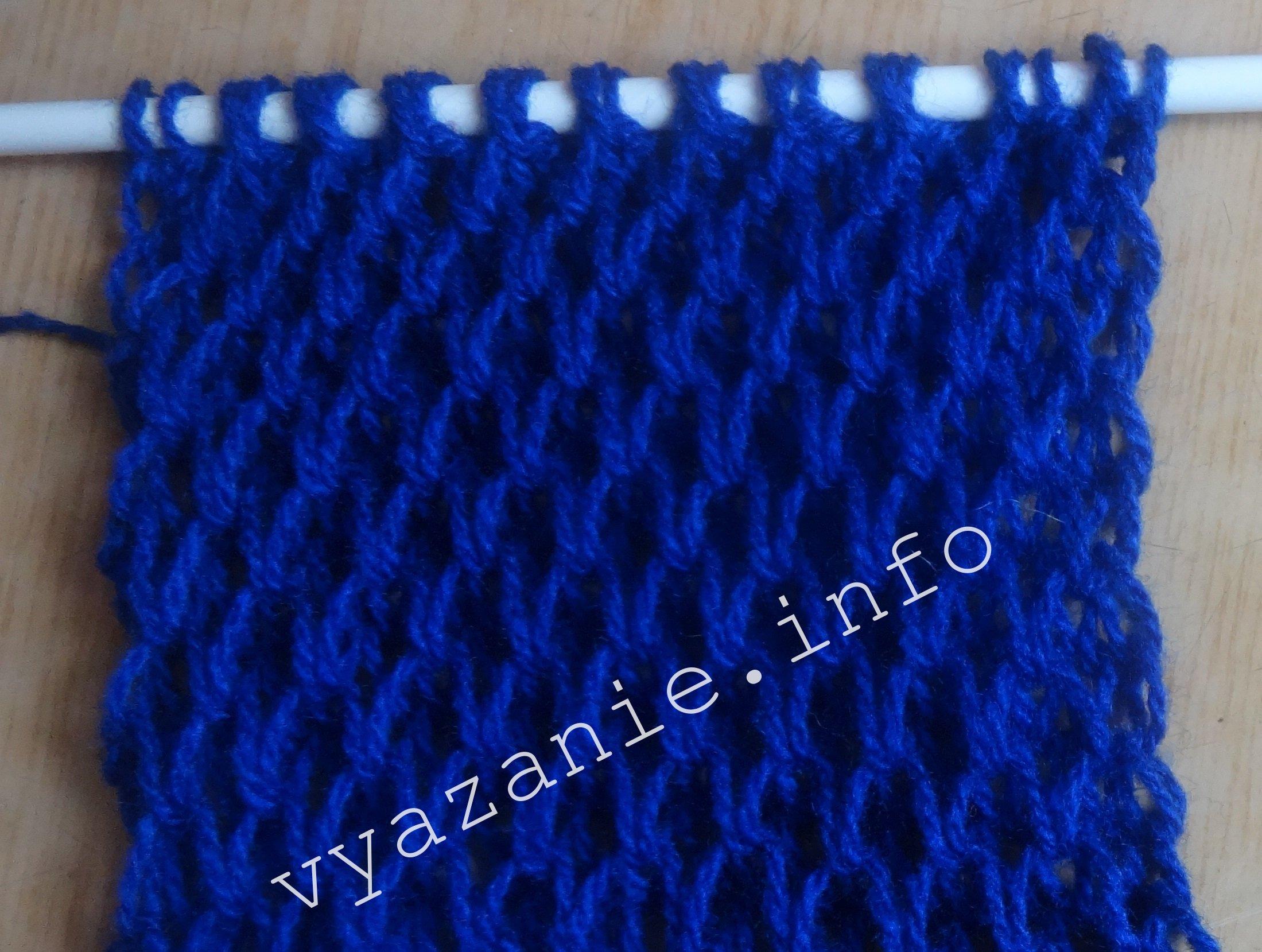 узор соты для свитера рубан. схема вязания