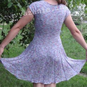 "летнее платье узор ""бабочка"" фото со спины"