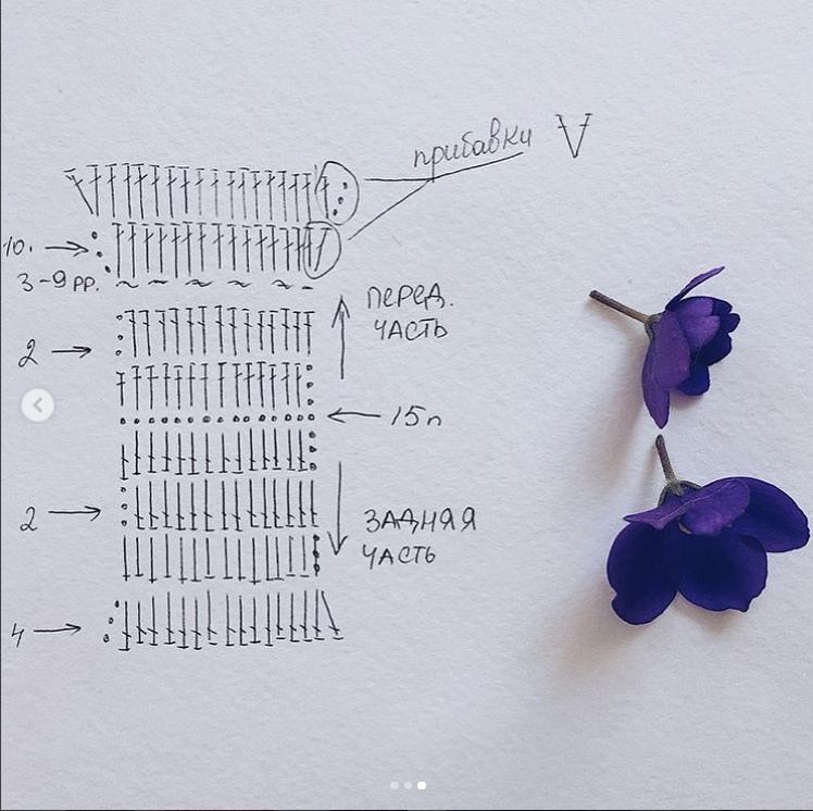 схема вязания купальник