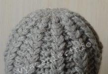 вязаная шапка крючком