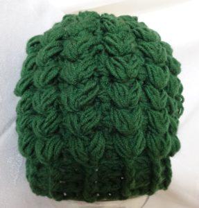 шапка узором колоски