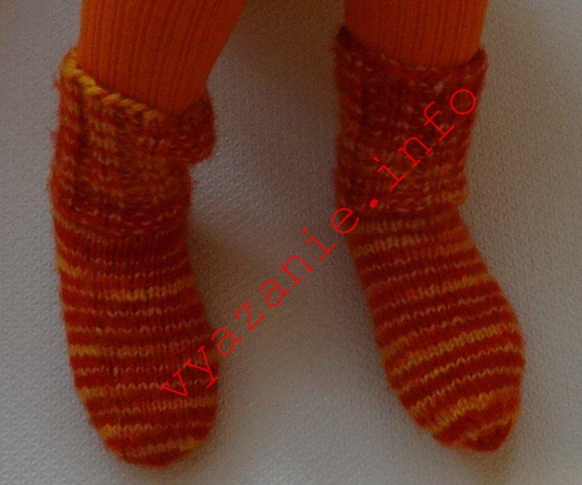 как связать носки спицами. детям