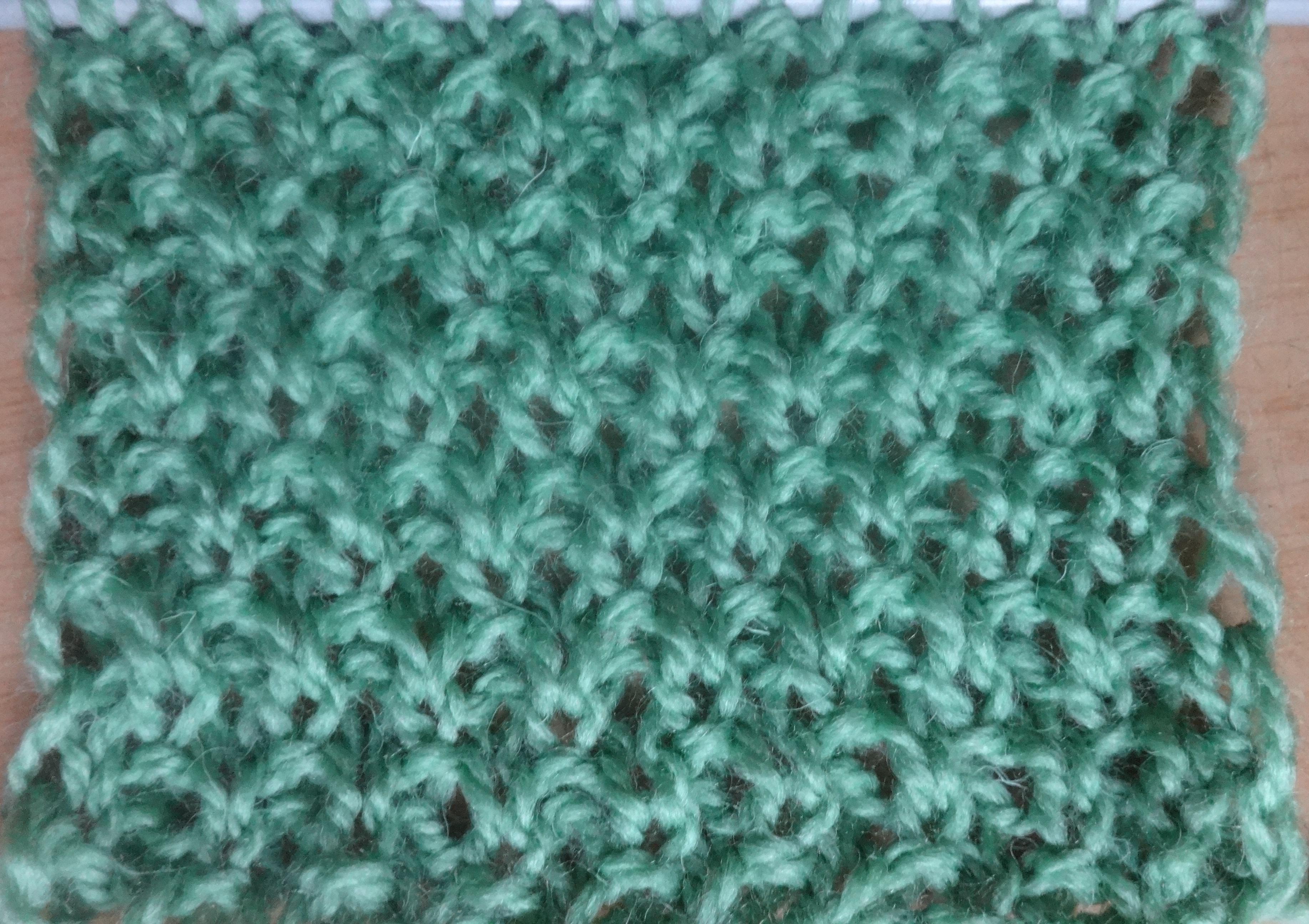 узор для шарфа большая путанка