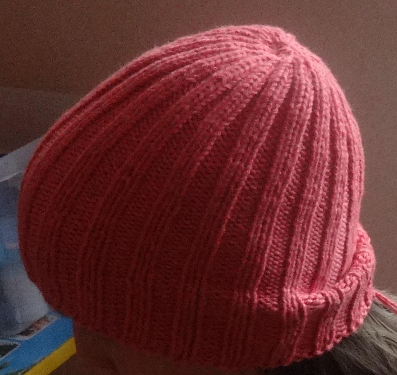 шапка спицами двойной резинкой схема вязания и описание вязания
