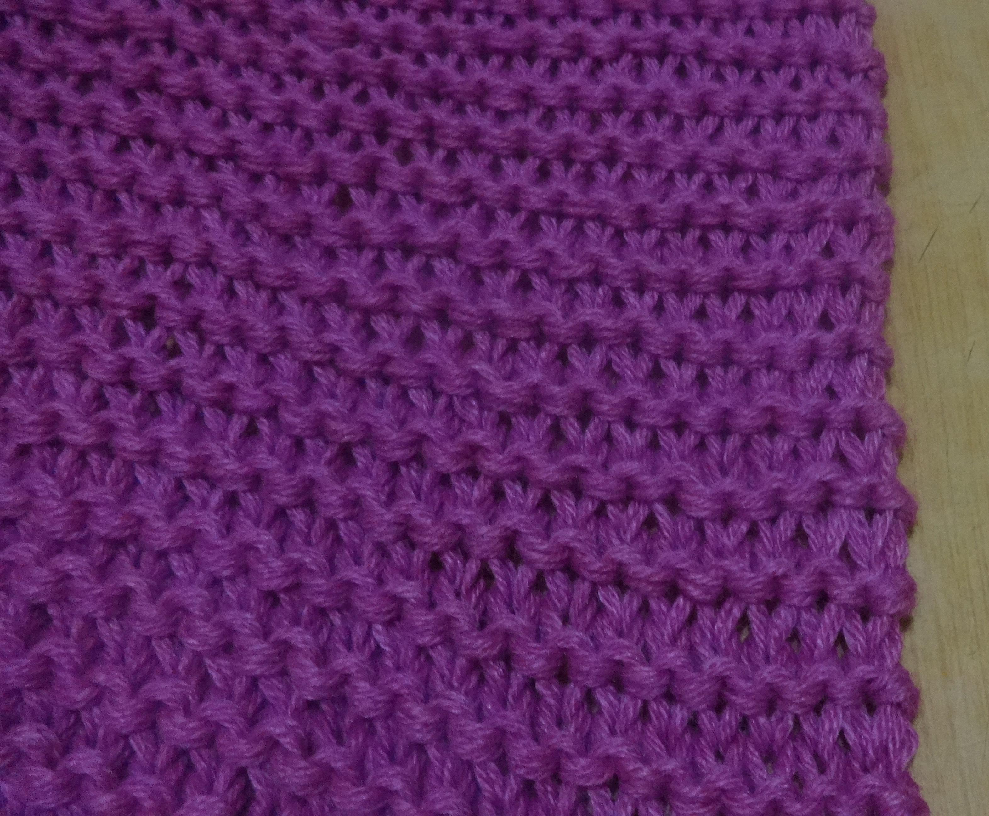 шарф платочной вязкой