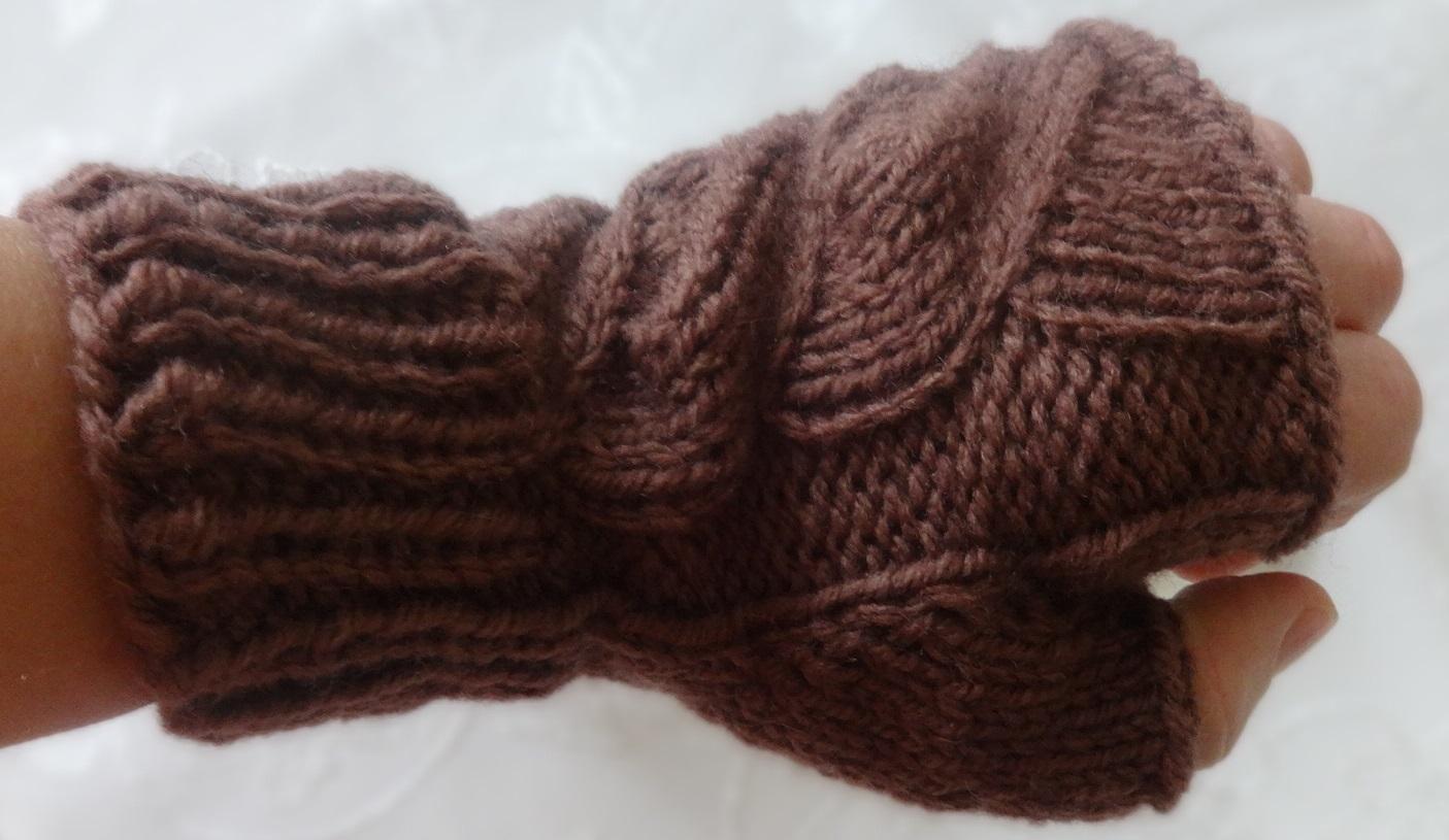 митенки спицами с описанием схемой вязания пальца индийским клином