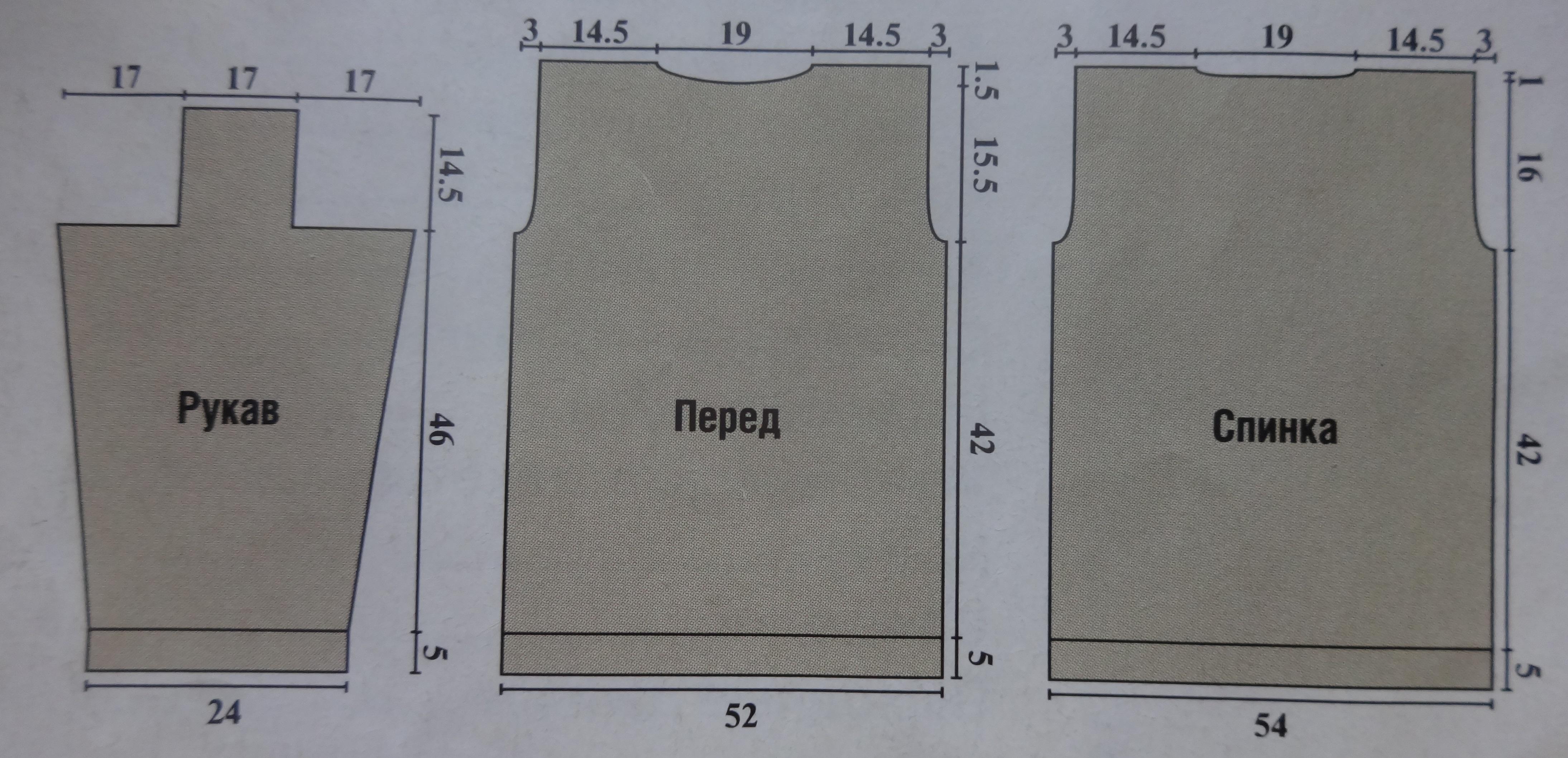 свитер мужской схема описание выкройка