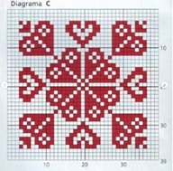 плед спицами схема квадрата С