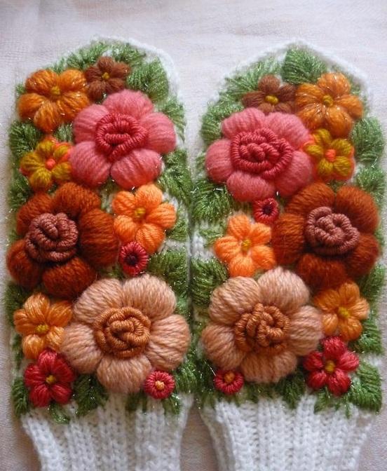 варежки митенки вышивка
