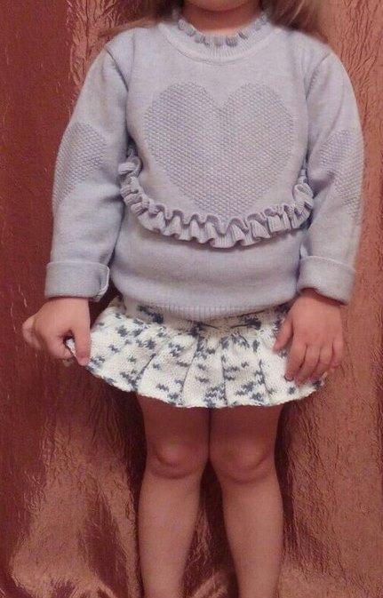 юбка спицами фото