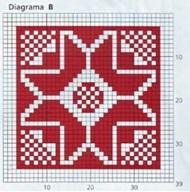 плед спицами схема квадрата В
