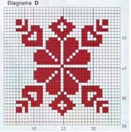 плед схема плед квадрат D
