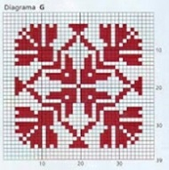 плед спицами схема квадрата G