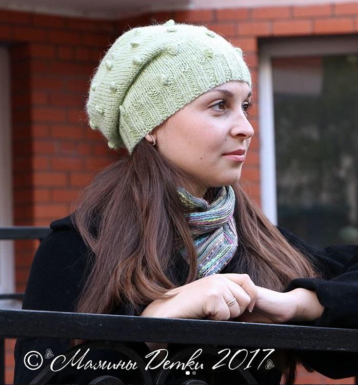 шапка шишечками с описанием подробной схемой вязания все о вязании