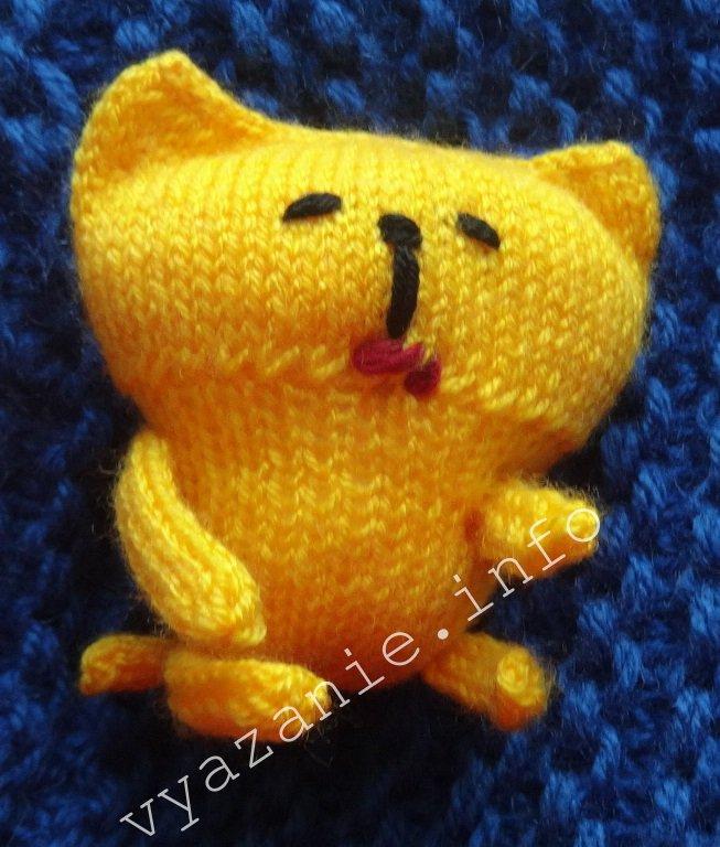 вязаные игрушки кот описание фото