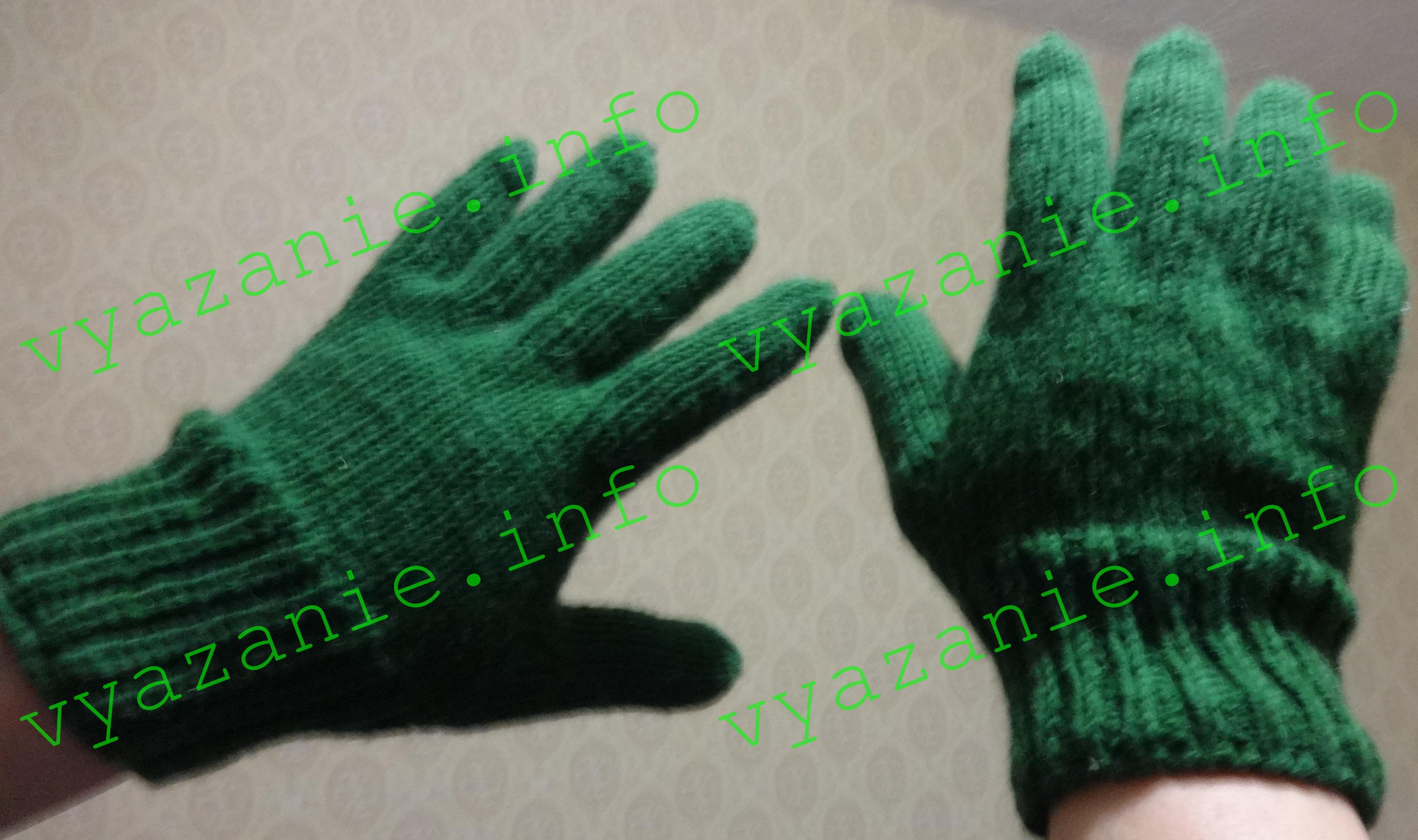 перчатки спицами ажурным узором и без схемы описание все о вязании