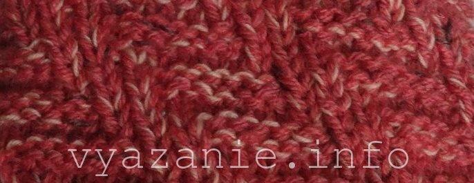 как вязать шарф. фото и описание двустороннего узора шина