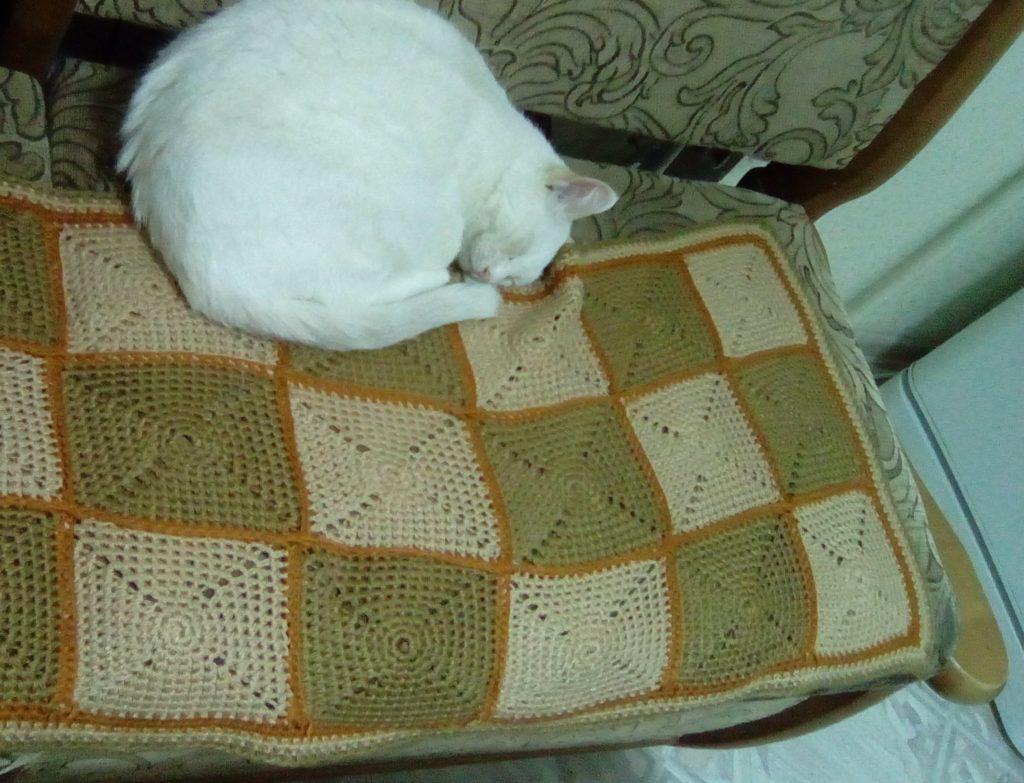 плед крючком фото на диванчике