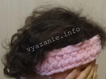 как вязать повязку на голову
