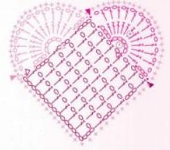 сердечко крючок схема