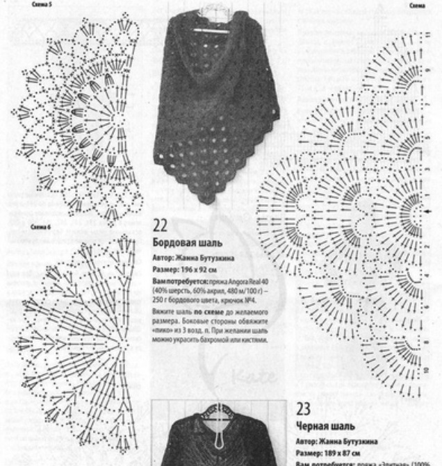 манишка спицами шесть вариантов все о вязании