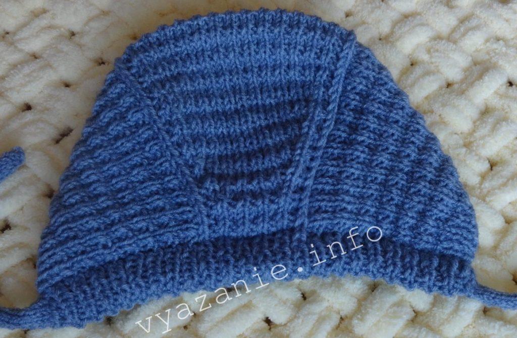 детская шапочка спицами для новорожденных