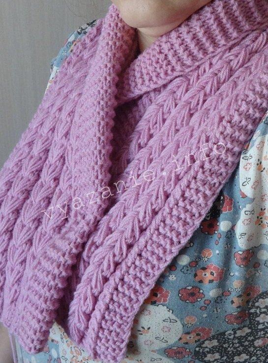 вязание манишка спицами