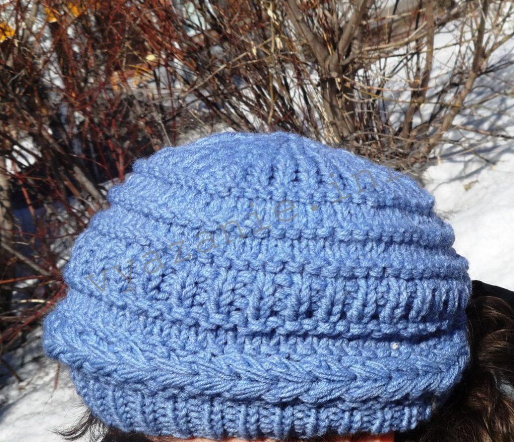 шапка для женщин спицами фото