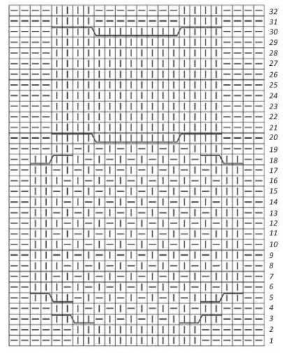 схема сова спицами
