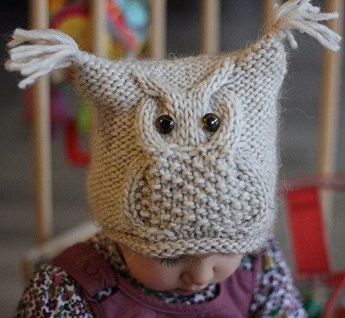 детская шапочка с совой
