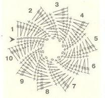 схема крючок цветок