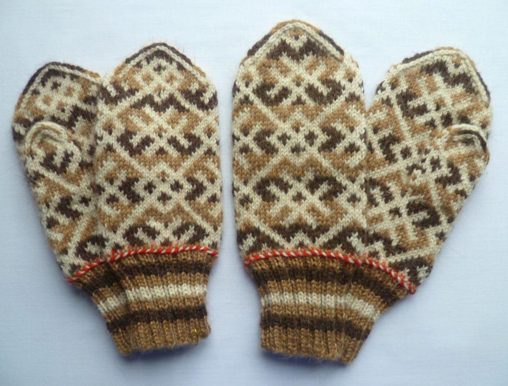 рукавички с узором фото