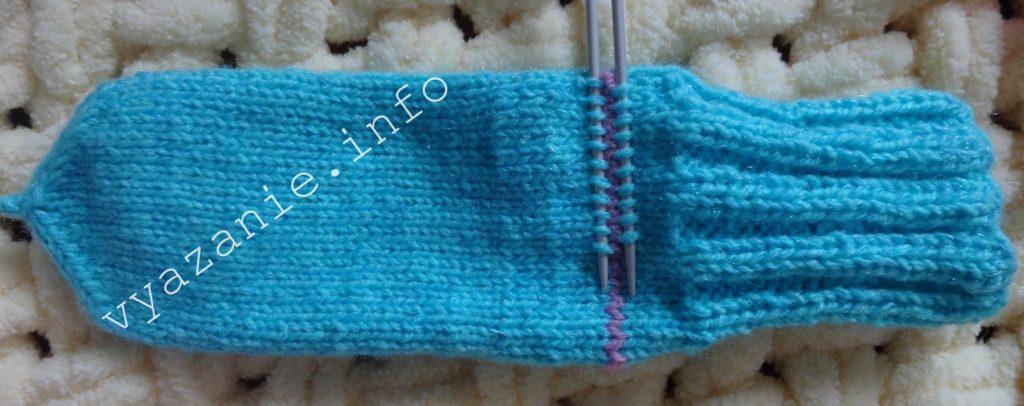 вязание спицами носки с круглой пяткой