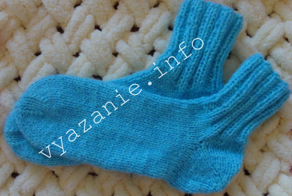 вязание спицами носков для начинающих