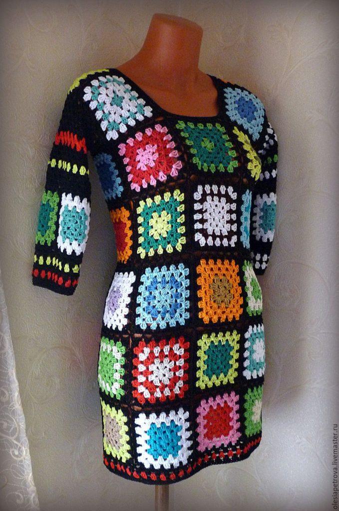 бабушкин квадрат платье