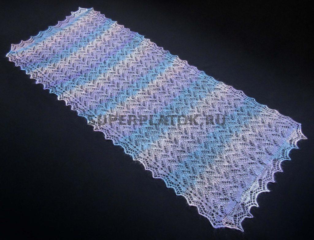 шарф спицами женский
