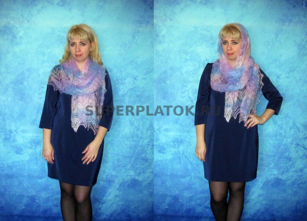 женский шарф на модели