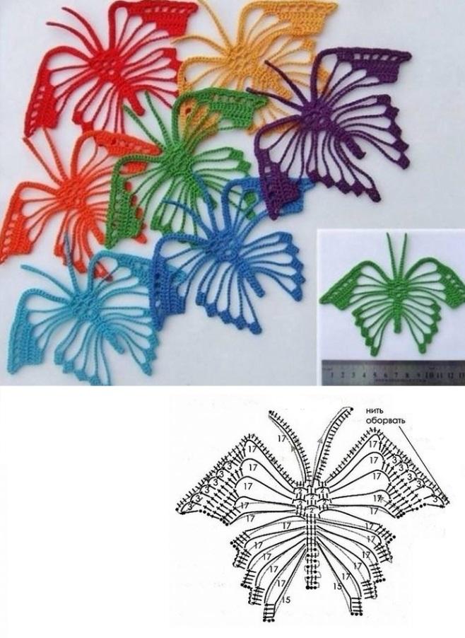 красивая бабочка схема