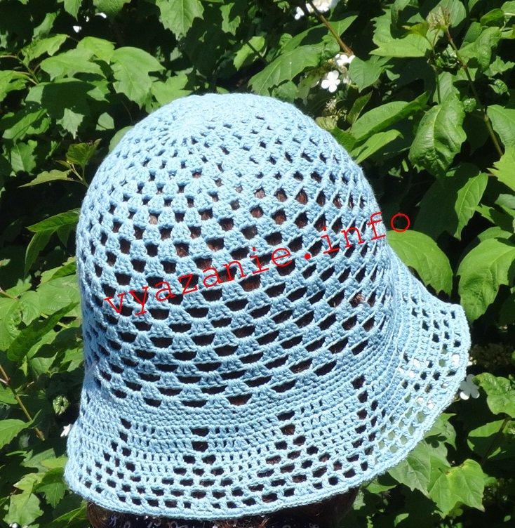 летняя шляпка крючком фото